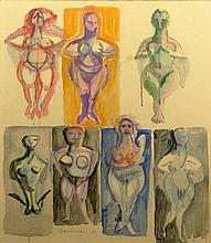 John Chamberlain, American (1927-2011) Circa 1960 Watercolor on Paper