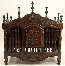 19th Century French Provincial Carved Walnut Panettiere. Unsigned. Good Condition. Measures 37 Inches Tall and 34 Inches Wide. We will not ship this item due to its size. We will happily recommend a list of outside vendors upon request.