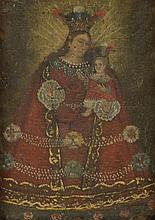 19th Century South American Painted Icon on Wood