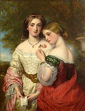 George Baxter, British (1804-1867) Circa 1865 Oil on Canvas