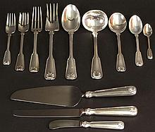 Sixty-Nine (69) Piece Tiffany Sterling Silver Flatware Service for Eight (8) in the