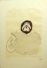 Albert Hirschfeld, American (1903-2003) Etching