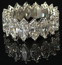Lady's Vintage Hand Made Approx. 8.00 Carat Diamond and Platinum