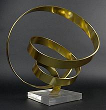 Dan Murphy, American (20th C) Brass on Lucite Sculpture