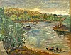 20th C French Impressionist Oil on Canvas