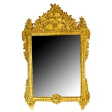 Mid 20th Century Possibly Italian Neo-Classical Giltwood Mirror. Unsigned. Good condition. Measures 46