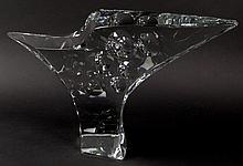 Large and Important French Baccarat Crystal Robert Rigot Eagle Sculpture
