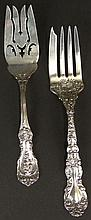 Two (2) Sterling Silver Cold Meat Forks. 1 Marked Gorham