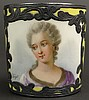 19th Century Miniature Sevres France Sterling Overlaid Porcelain Portrait Cup with an Image of Madame de Gregory. Signed Over Glaze Sevres Logo, France and Madame de Gregory. Portrait Artist Signed Bizet. Very Good Condition. Measures 1-1/2 Inches
