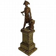 Antique Spelter Figure French General
