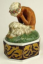 Vintage Royal Copenhagen Porcelain Figurine on Stand