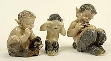 Lot of Three (3) Royal Copenhagen Porcelain Figurines.