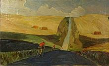 20th Century Russian Oil on Canvas,