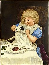 Early 20th Century Hand Painted Porcelain Plaque