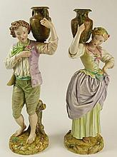 Pair of Large Royal Worcester Porcelain Figurines