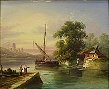 19th Century French Oil on Panel.