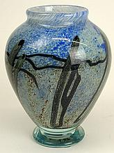 Contemporary Ophir Studios Art Glass Vase. Signed. Ophir Studio L. Hudin, S. Beyers, 10/10/80  C104. Good Condition. Measures 8-1/4 Inches Tall. Shipping $65.00