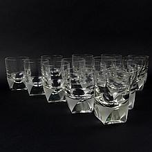 Fifteen (15) Circa 1960's Rosenthal Crystal Old Fashioned Glasses. Etched signature to base. Chip to one rim otherwise good condition. Measure 3-7/8 incges tall and 2-3/4 inches wide. Shipping $125.00