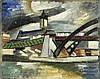 AUGUSTE HERBIN Quiévy 1882 - 1960 Paris Paysage avec église et pont, Auguste Herbin, CHF0