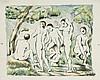 *PAUL CÉZANNE 1839 Aix-en-Provence 1906 Les Baigneurs - Petite planche, Paul Cezanne, CHF0