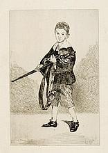*EDOUARD MANET 1832 Paris 1883 L'Enfant à l'épée tourné à gauche