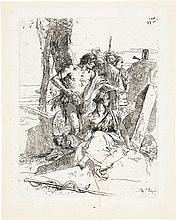 *Giovanni Battista Tiepolo Venedig 1696 - 1770 Madrid La scoperta della tomba di Pulcinella
