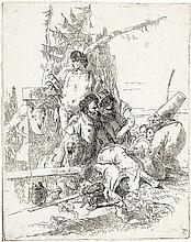 *Giovanni Battista Tiepolo Venedig 1696 - 1770 Madrid Pulcinella parla a due maghi