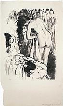 *Edgar Degas 1834 Paris 1917 Femme nue debout à sa toilette