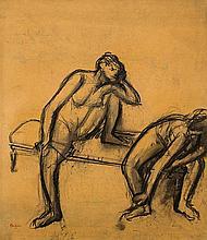 *Edgar Degas 1834 Paris 1917 Danseuses au repos - Etude de nus