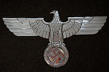 Reproduction Full-Size Polished Aluminum WWII German Railway Eagle 28