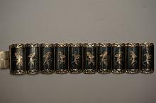Vintage Sterling Silver Made in Siam Bracelet  7