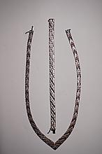 Sterling Silver Italian Necklace & Bracelet Set  53.7 Grams
