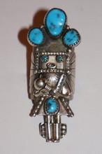 Sterling Silver Navajo Kachina Ring by Doris Small