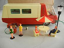 Vintage Sears Battery Operated Toy Camper Trailer #4325 in Box