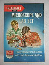 Vintage Gilbert #13072 Microscope and Lab Set Complete in Box