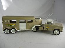 Vintage Nylint Horse Van #6300 Truck and Trailer 23-1/2