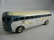 Antique Arcade Cast Iron Greyhound Bus #4400 9