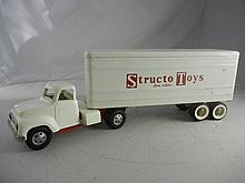 Vintage Structo Toys Truck and Trailer 26-1/2