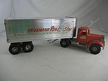 Vintage Smith Miller MIC Truck and Fruehauf Road Star Trailer 27-1/2