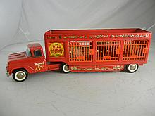 Vintage Buddy L Wild Animal Circus Truck and Trailer With Animals 25