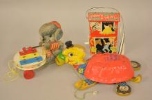 Vintage Lot Of Wooden Fisher-Price Toys