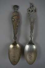 Lot of Two Sterling Silver Souvenier Spoons Omaha & Graduate  2.42 Troy Ounces