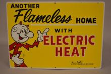 Redi Kilowatt Another Flameless Home DST Sign Indiana & Michigan Electric Company