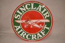 Sinclair Aircraft  DSP Sign with Airplane Graphics