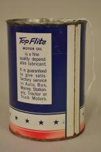 Top Flite Motor Oil Quart Can with Airplane Graphics
