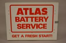 Atlas Battery Service Metal Wall Cabinet