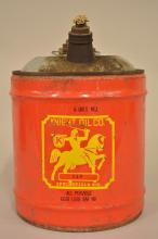 5 Gallon Knight Oil Can with graphics