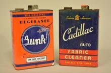 Cadillac Fabric Cleaner Gallon Can and Gunk Super Concentrate Gallon can with Airplane Graphics