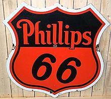 Porcelain Phillips 66 Shield Sign