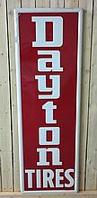 Upright Dayton Tires Self Framed Embossed Sign